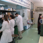 students in the lab for water desaliration